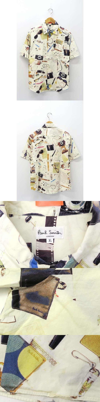 Paul Smith LONDON ポールスミス ロンドン 総柄 雑貨柄 ポケット付 半袖 シャツ XL