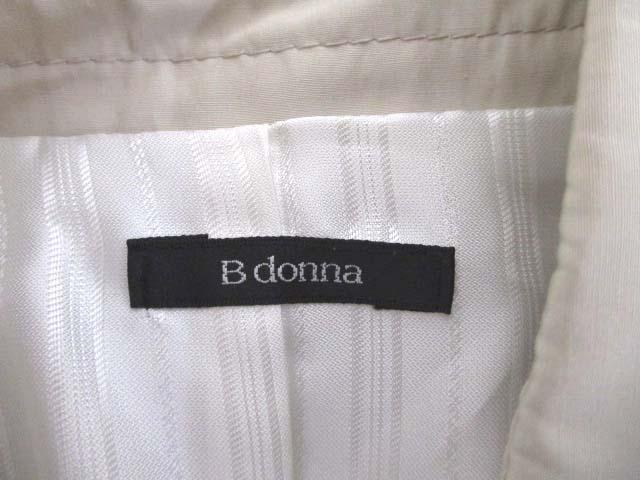ビドンナ B donna 光沢 ナイロン トレンチコート サンドベージュ レディース