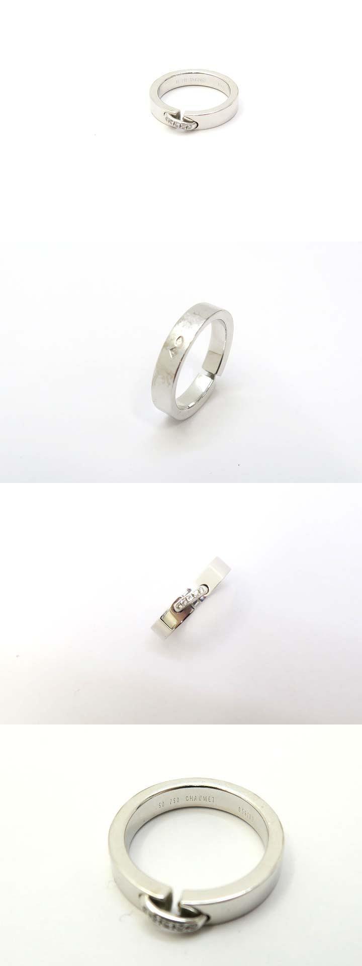 K18WG 750 リアン エヴィダンス 5P ダイヤモンド リング 指輪 50 ホワイトゴールド