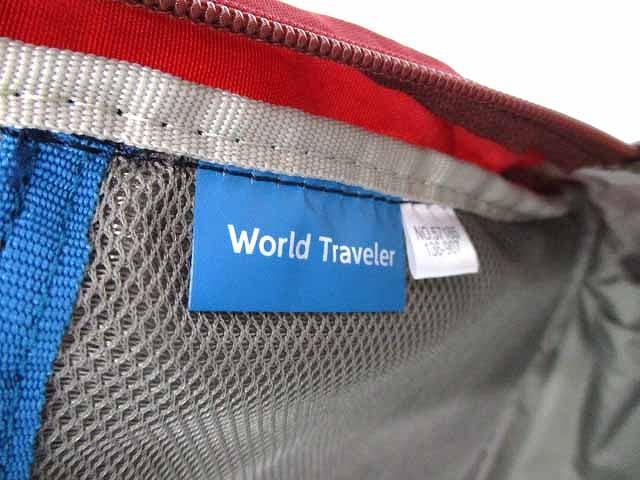 ワールドトラベラー WORLD TRAVELER ナイロン 2Way リュックサック デイパック レッド メンズ