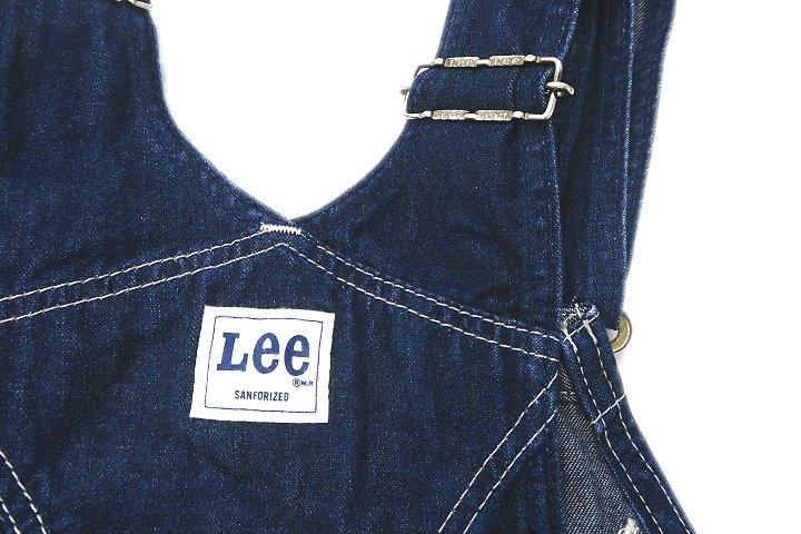 リー LEE 0294 50'S 日本製 ヴィンテージ 復刻 サロペット オーバーオール デニム 28×33 インディゴ メンズ