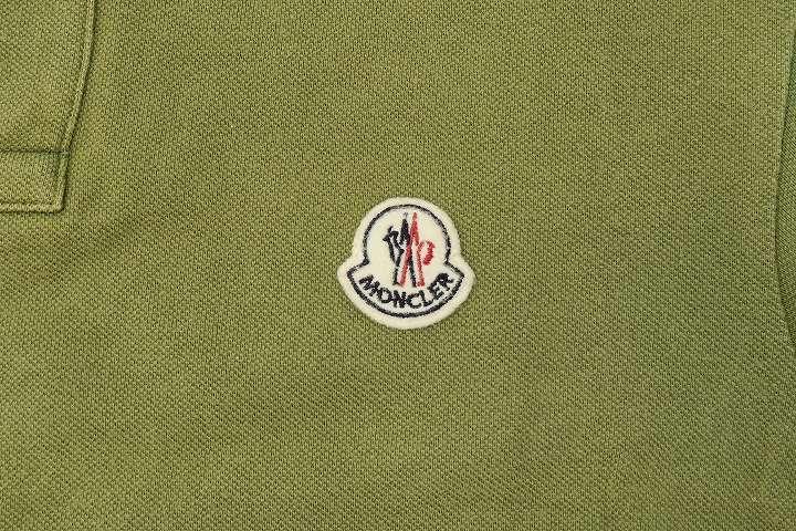 モンクレール MONCLER ワッペン 半袖 鹿の子 ポロシャツ S