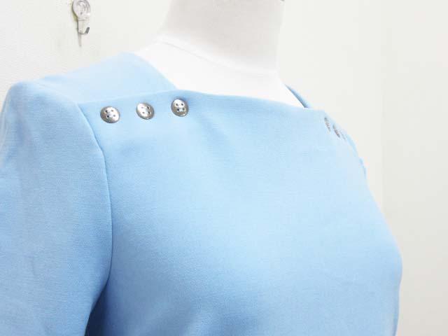 b27f40b7517f9 ... ザラ ZARA ワンピース ストレッチ 長袖 ボタン装飾 XS 水色 ブルー レディース ...