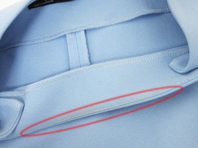aaeb63b82c4cd ザラ ZARA ワンピース ストレッチ 長袖 ボタン装飾 XS 水色 ブルー レディース