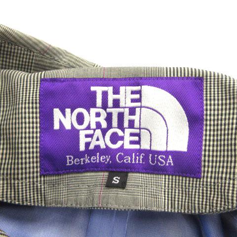 ノースフェイス パープルレーベル THE NORTH FACE PURPLE LABEL ステンカラーコート スプリング グレンチェック コットン グレー S メンズ