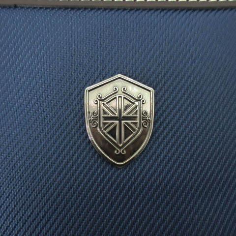 メンズビギ MEN'S BIGI ビジネス ハンドバック ブリーフケース 書類かばん レザー ブルー ブラウン 青 茶 メンズ