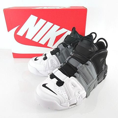 ナイキ NIKE AIR MORE UPTEMPO 96 エア モアアップテンポ モアテン グラデーション スニーカー ハイカット  921948,002 白 黒 グレー 28.5cm シューズ 靴 \u203bM,180320 メンズ
