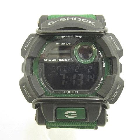 a50be593d8 カシオジーショック CASIO G-SHOCK Gショック GD-400-3JF BIG CASE ビッグケース クォーツ マルチタイム 腕時計 緑  RU-190202 メンズ