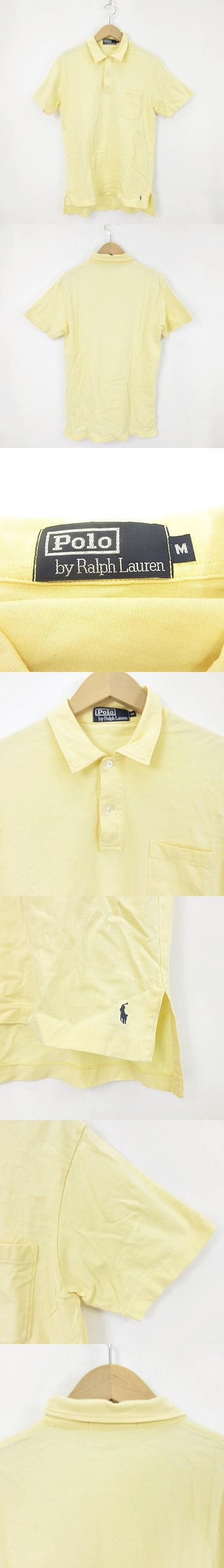 ポロシャツ カットソー 半袖 黄色 イエロー M トップス O-190131
