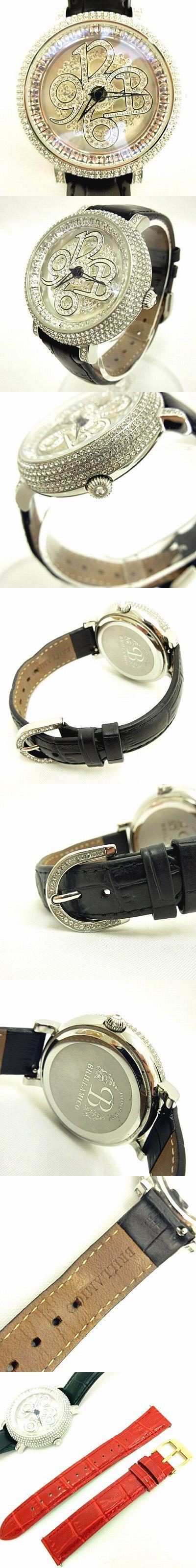 ブリラミコ BRILLAMICO NUMBER 40mm BLACK SILVER ナンバー 腕時計 レザー 革ベルト シルバー ブラック 黒 YK-190319