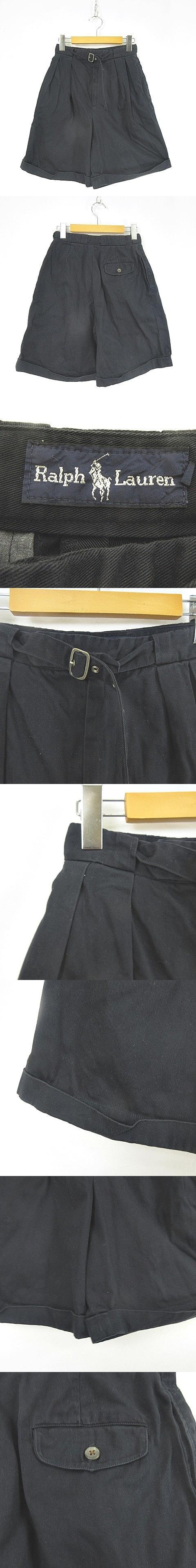 ショート ハーフ パンツ ベルト 紺 ネイビー KYー190510