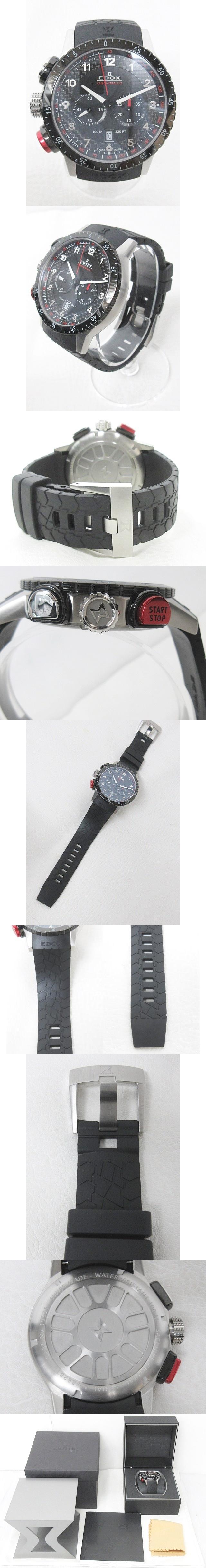 EDOX エドックス CHRONORALLY クロノラリー1 腕時計 ブラック 黒 10305 0715