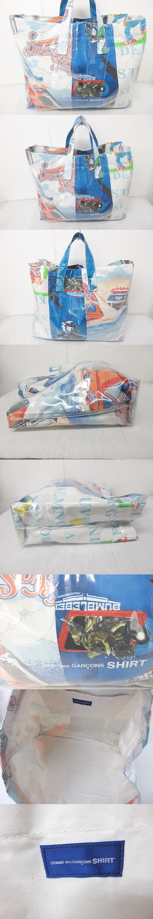 18AW PVC プリント トートバッグ クリアバッグ ビニール ハンドバッグ マルチカラー 0105