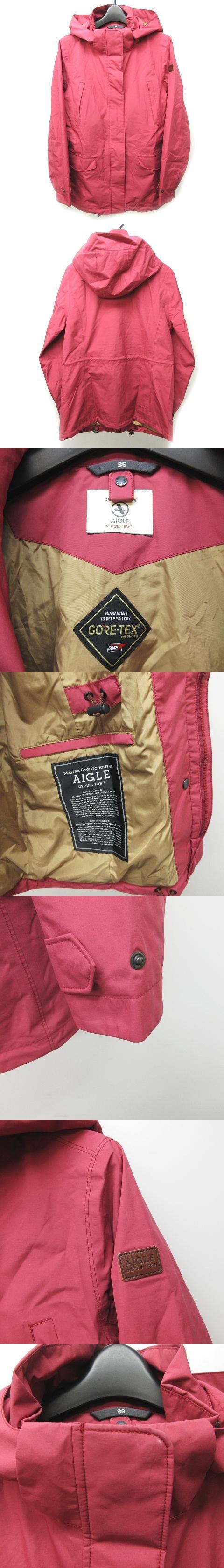 ゴアテックス ベロン ジャケット マウンテンパーカ フード GORE-TEX トートバッグ付 紫 系 36 ZBFH652 1113
