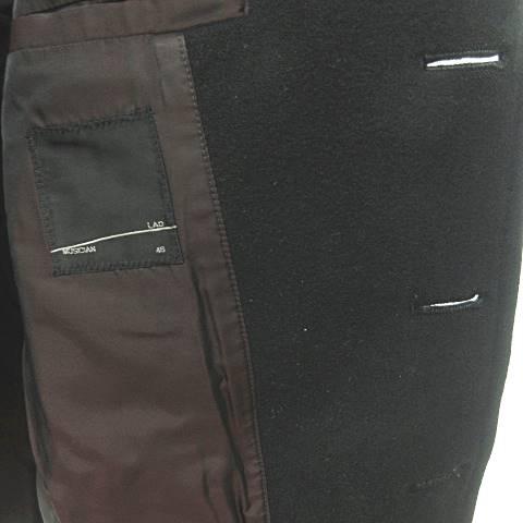 ラッドミュージシャン LAD MUSICIAN ピーコート メルトンジャケット ウール ダブル 黒 ブラック 46 NVW 0712 メンズ