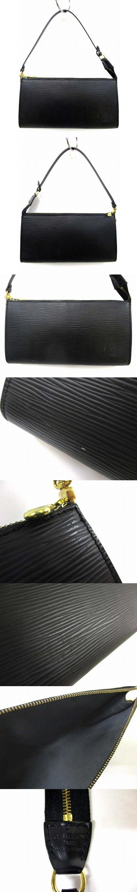 エピ ノワール アクセソワール ポーチ ポシェット レザー ブラック 黒 M52942 190524OK03s