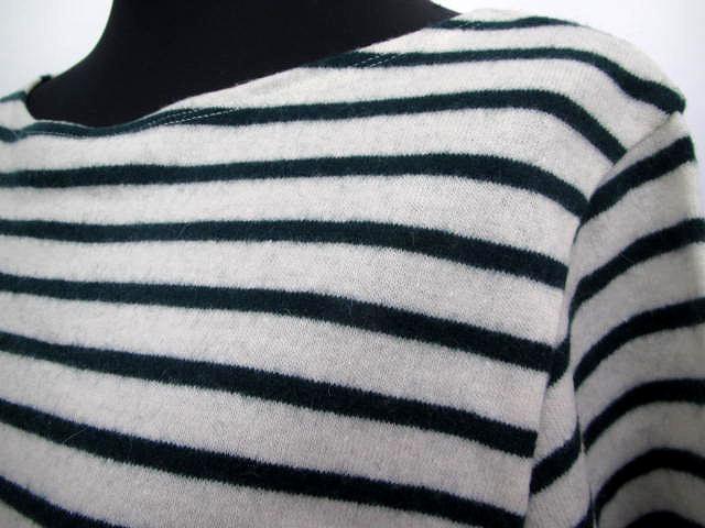 マカフィー MACPHEE トゥモローランド 長袖 Tシャツ カットソー 1 ボーダー ホワイト グリーン レディース /K80 レディース