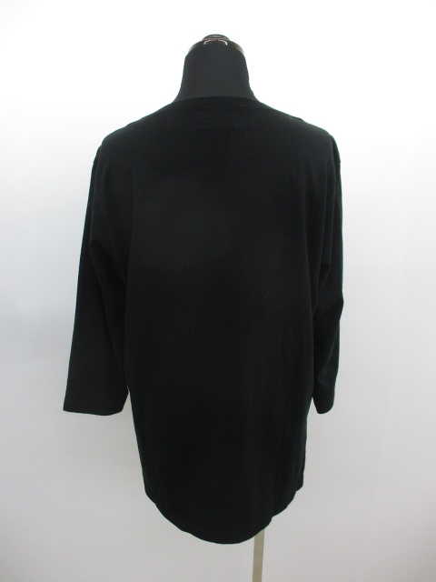 ノリコイケ norikoike Tシャツ カットソー 七分袖 無地 丸首 L 黒 レディース/F128 レディース