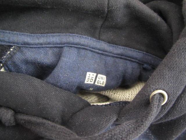 ユニクロ UNIQLO パーカー プルオーバー カットソー 紺 メンズ M/g92 メンズ