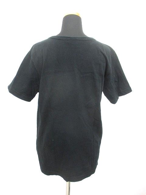 チャンピオン CHAMPION ポケット Tシャツ カットソー 半袖 ロゴ 丸首 L 黒 レディース/j30 レディース