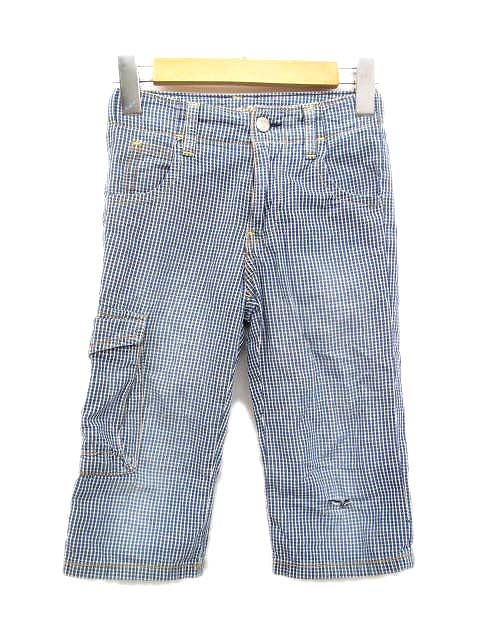 b26e8908abacc ギャップキッズ GAP KIDS パンツ ズボン ギンガムチェック ジップ カーゴ 120 6-7 ブルー系 キッズ ジュニア 子供 u15