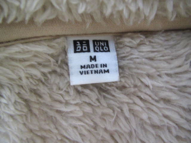 40715a6cdabb ... ユニクロ UNIQLO 起毛 スタンドカラー ジャケット ブルゾン ジップアップ ベージュ M レディース/k12