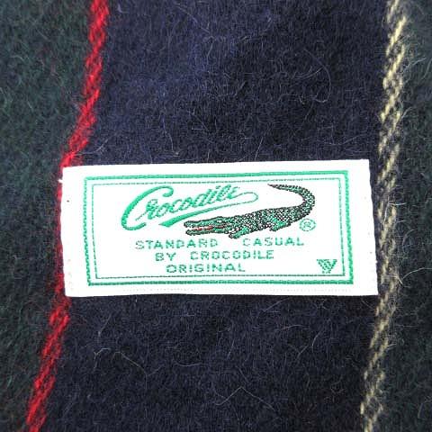 08f490c17978 ... クロコダイル CROCODILE ストライプ マフラー フリンジ 緑×紺×赤×黄 メンズ/☆p10