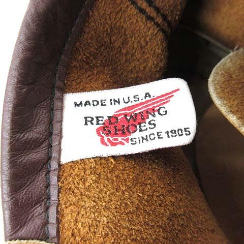 レッドウィング REDWING アイリッシュセッター モックトゥ ヌバック レザー ワーク ブーツ シューズ 2878 縦 刺繍 羽タグ 8D ベージュ メンズ♪12 メンズ