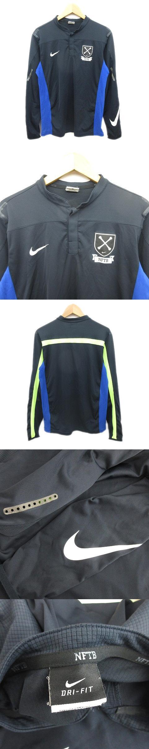 NFTB ジャージ プルオーバー ジャケット ブルゾン ロゴ スポーツウエア S 紺 青 メンズ/d69