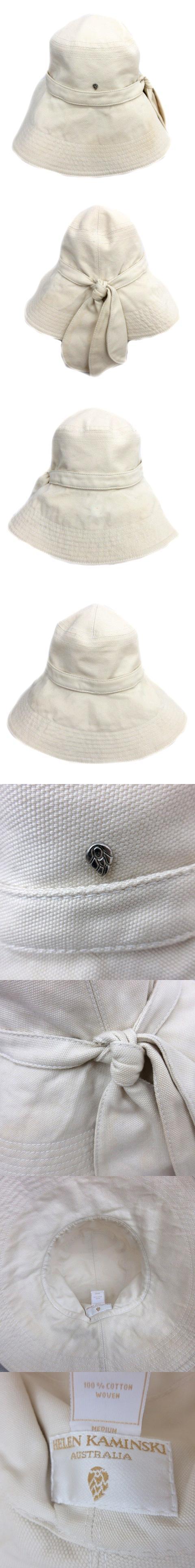 サファリ バケット ロング ブリム ハット 帽子 コットン カジュアル リボン アイボリー レディース