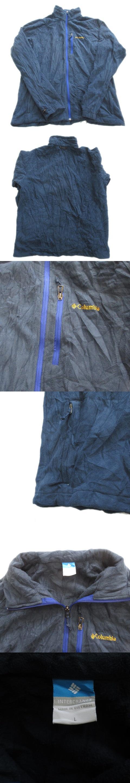 フリース ジャケット ブルゾン ロゴ 刺繍 ワンポイント アウトドア L 紺 メンズ▽12