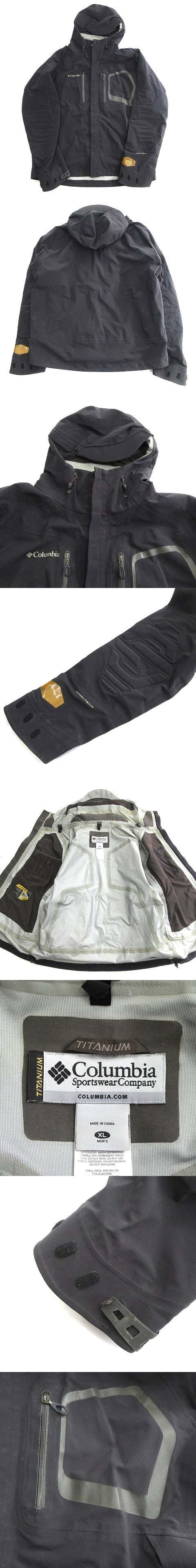 マウンテンパーカー ジャケット ブルゾン ロゴ アウトドア XL 黒 ブラック メンズ ◇3