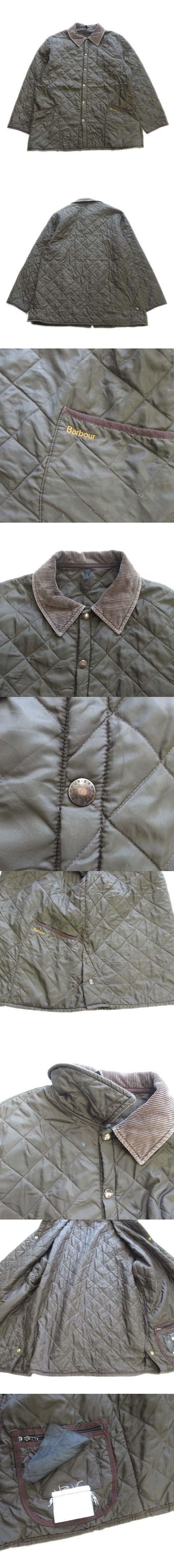 リッツデール LIDDES DALE キルティング コート ジャケット ブルゾン 襟コーデュロイ 中綿 オリーブ カーキ 緑 メンズ▽4※