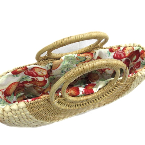 バサラ BASARA TYO かごバッグ ハンドバッグ 巾着付き 裏地総柄 サークルハンドル ベージュ ブラウン  レディース/4 レディース