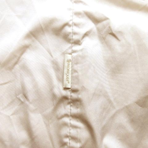 モンクレール MONCLER スプリング シングルトレンチ コート ジャケット ブルゾン フロントホック ロング ロゴ ワンポイント 5 ベージュ レディース◆6