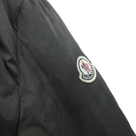 モンクレール MONCLER PHALANGERE ファランジェール ラクーンファー ダウン コート ジャケット ブルゾン ストレッチ フード ナイロン 0 黒 ブラック レディース●7