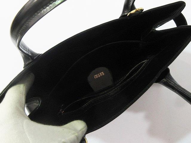 5645d5ea4647 グッチ GUCCI ハンドバッグ ショルダーバッグ エナメル 伊製 イタリア製 000-1118-0503 黒 ブラック ...