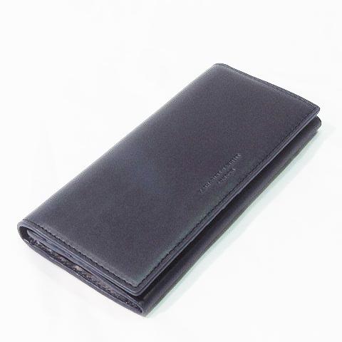 691523276fcd 未使用品 キャサリンハムネットロンドン KATHARINE HAMNETT LONDON 長財布 二つ折り レザー 本革 紺 ネイビー系 メンズ  レディース