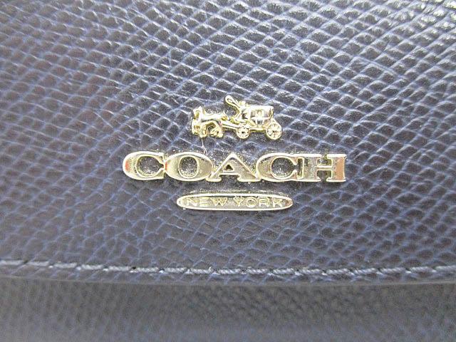 006c519e03bd ... コーチ COACH クロスグレイン スリム エンベロープ ミッドナイト レザー ソフト ウォレット 長財布 F52689 紺ネイビー ブランド