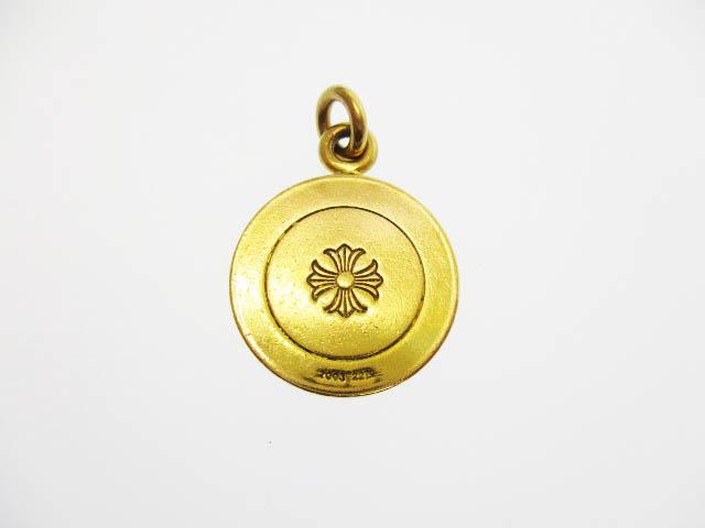 クロムハーツ CHROME HEARTS 22K ANGEL MEDAL V2 エンジェル メダル チャーム ペンダントトップ ゴールド ブランド古着ベクトル 中古▲☆AA★ 190316 0650
