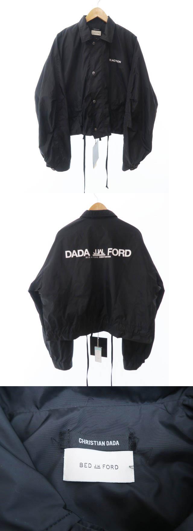 ×ベッドフォード BED J.W. FORD Coach Jacket ロゴ コーチ ジャケット 48 黒ブラック ブランド古着ベクトル 中古190523 0120