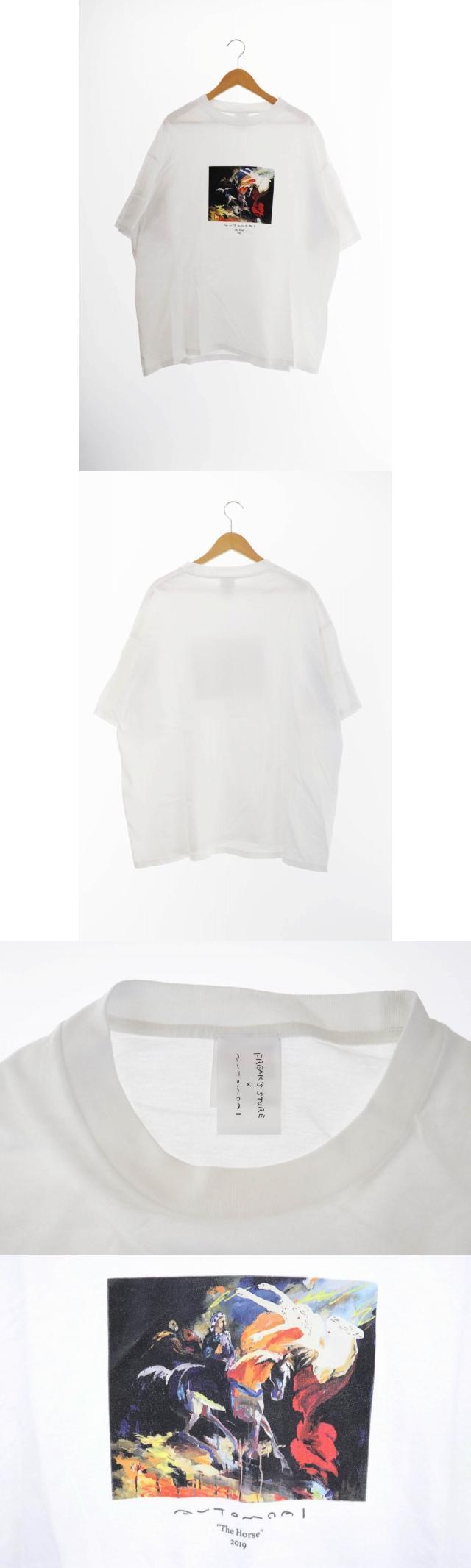 ×AUTOMOAI オートモアイ 19SS THE HOUSE プリント 半袖 Tシャツ XL 白 ホワイト ブランド古着ベクトル 中古 200318 0009