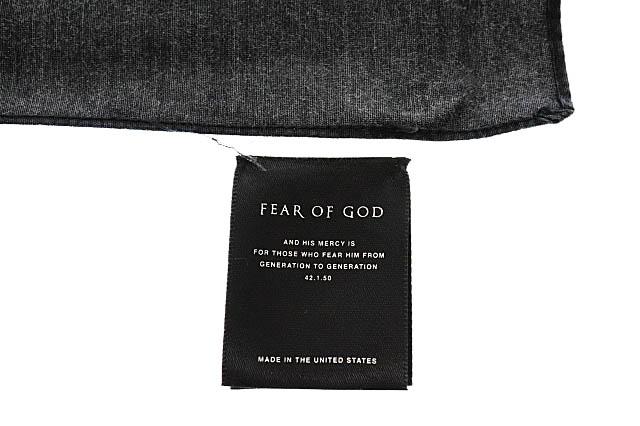 フィアオブゴッド Fear of God 17AW 5TH COLLECTION Scarf Bandana スカーフ バンダナ 5C17S 黒 ブラック ブランド古着ベクトル 中古 ☆AA★▲■ 200511 0030 メンズ