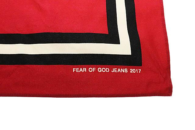 フィアオブゴッド Fear of God 17AW Scarf Bandana スカーフ バンダナ 赤 レッド ブランド古着ベクトル 中古 ☆AA★▲■ 200511 0030 メンズ