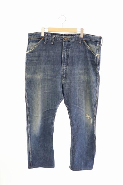 ラングラー WRANGLER 60`s 11MWZ 斜め ブルーベル GRIPPER グリッパー デニム パンツ 42×36 インディゴ ブランド古着ベクトル 中古 200706 0110 メンズ