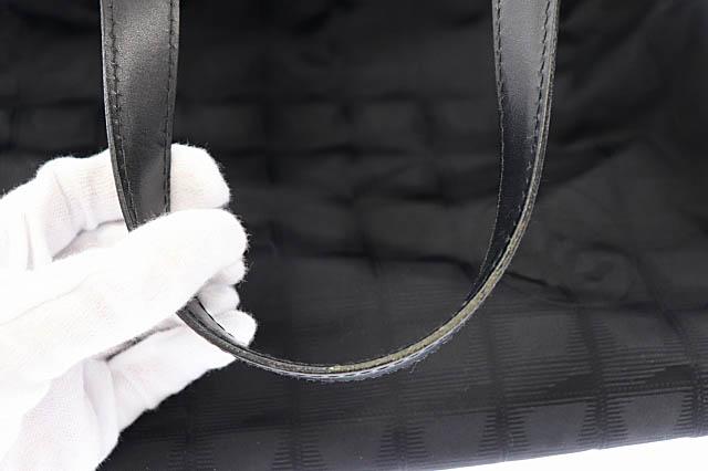 シャネル CHANEL ニュートラベルライン ココマーク トート バッグ MM 黒 ブラック ブランド古着ベクトル 中古 ▲■ 210801/103 レディース