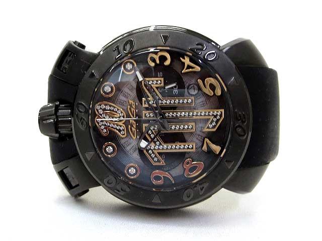 quality design 1d5bb 69c19 美品 世界限定500本 GaGa MILANO ガガミラノ 8012.NJ.01 Chrono クロノ 48 ネイマールモデル クォーツ 腕時計  ウォッチ 黒 ブラック メンズ