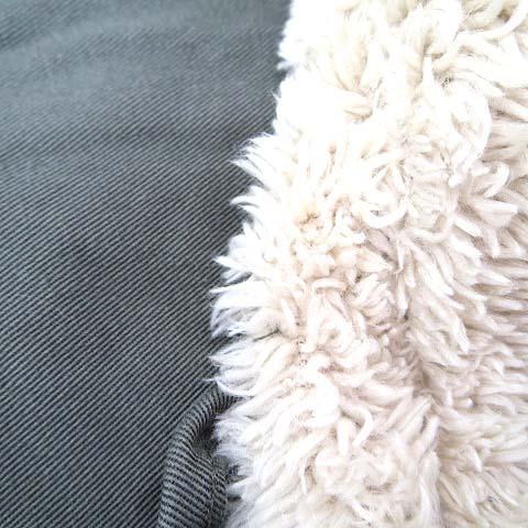 イーハイフンワールドギャラリー E HYPHEN WORLD GALLERY 中綿 コート F カーキ コットン 無地 シンプル フード ボア 20128K70020 レディース