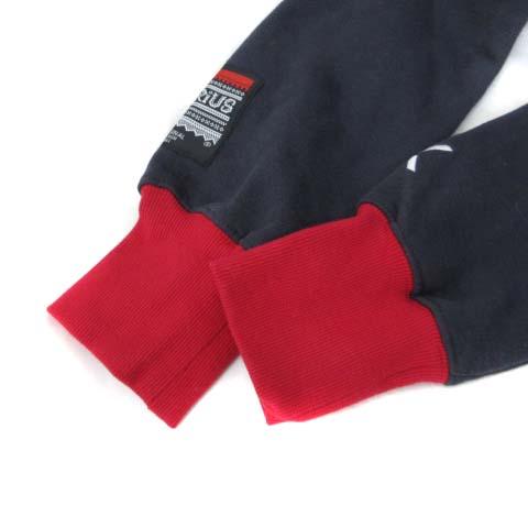 onepiece ジャンプスーツ S 紺 ネイビー 長袖 MARIUS 総柄 裏起毛 オールインワン 美品 メンズ レディース