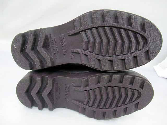 エーグル AIGLE レインブーツ 長靴 ロング丈 パープル 35【ブランド古着ベクトル】【中古】170710 レディース